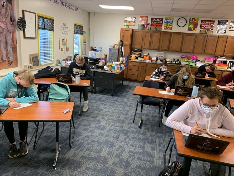 12 students taking individual test